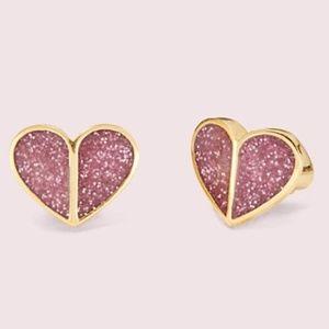 NWT~KATE SPADE~Heritage Spade Glitter Small Hearts